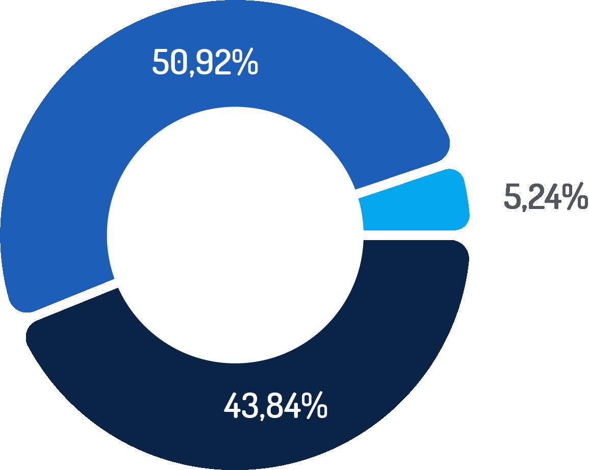 Udział ogłoszeń w zależności od doświadczenia Q2 2020 - wykres